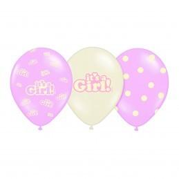 Set 5 baloane asortate It's a Girl