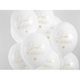 Set 5 baloane Just Married