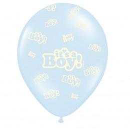 Set 5 baloane bleu It's a Boy