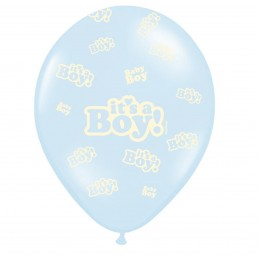 Set 5 baloane bleu It's a Boy