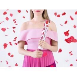Tun confetti inimioare rosii 40 cm