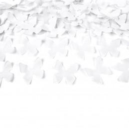 Tun confetti fluturasi albi 40 cm