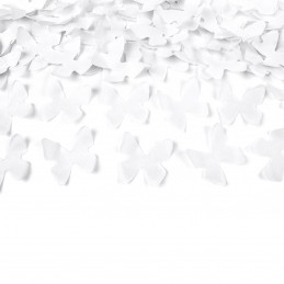 Tun confetti fluturasi albi 60 cm