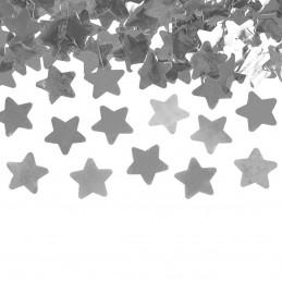 Tun confetti stelute argintii 40 cm
