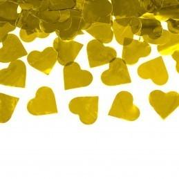 Tun confetti inimioare aurii 60 cm