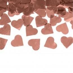 Tun confetti inimioare rose gold 60 cm