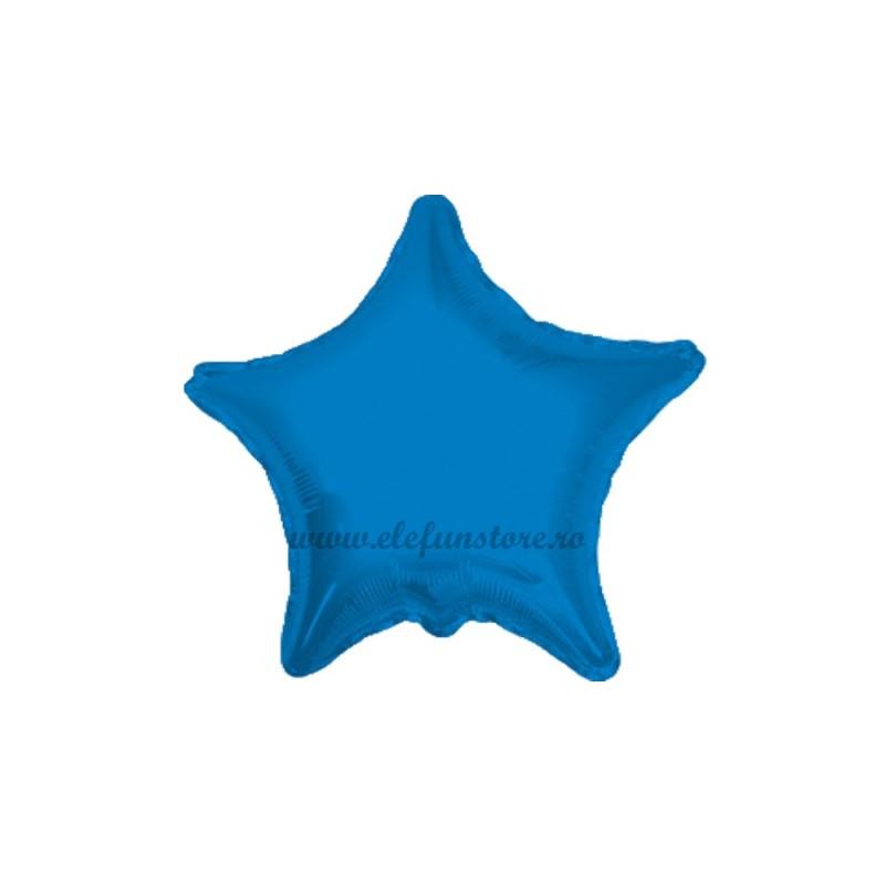 Set 10 Baloane Stea Albastra 12 cm