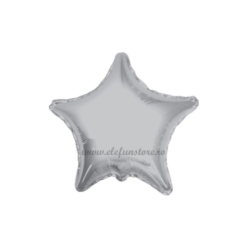 Set 10 Baloane Stea Argintie 12 cm
