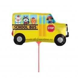 Balon Mini Autobuz Scolar cu bat
