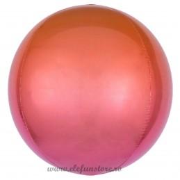 Balon Sfera 3D 60cm Degrade Portocaliu-Roz