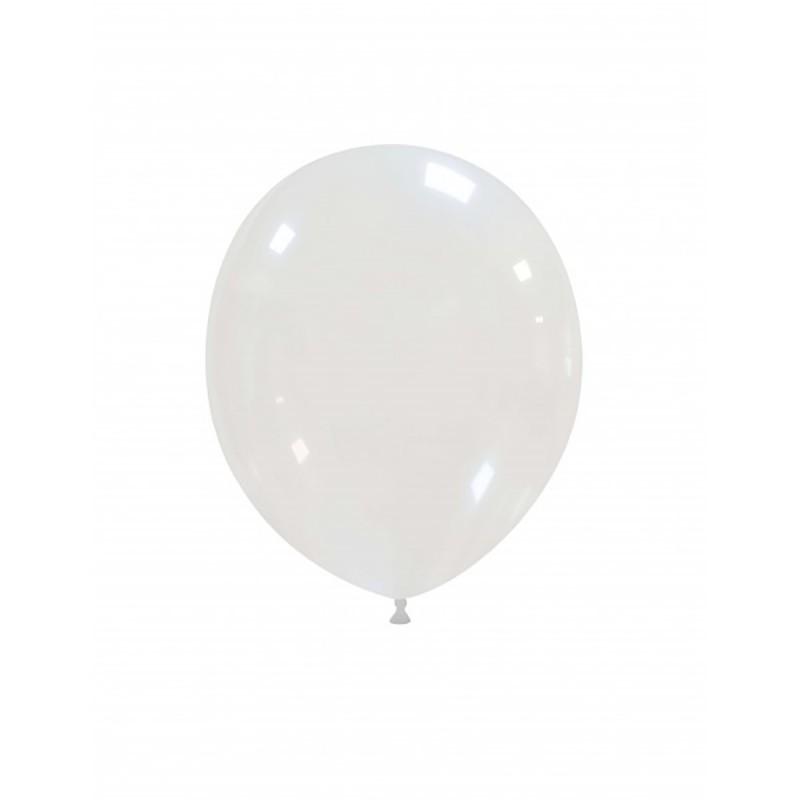Set 100 Baloane Transparente 13 cm