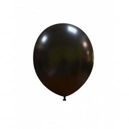 Set 100 Baloane Negru Metalizat 13 cm