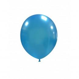 Set 100 Baloane Albastru Deschis Metalizat 13 cm