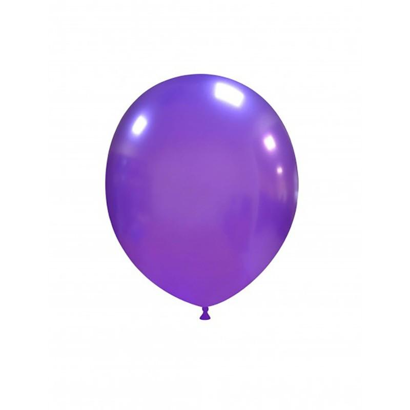 Set 100 Baloane Mov Metalizat 13 cm