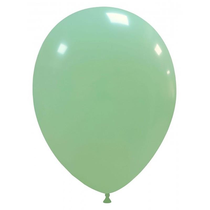 Set 100 Baloane Pastel Verde Menta 30cm