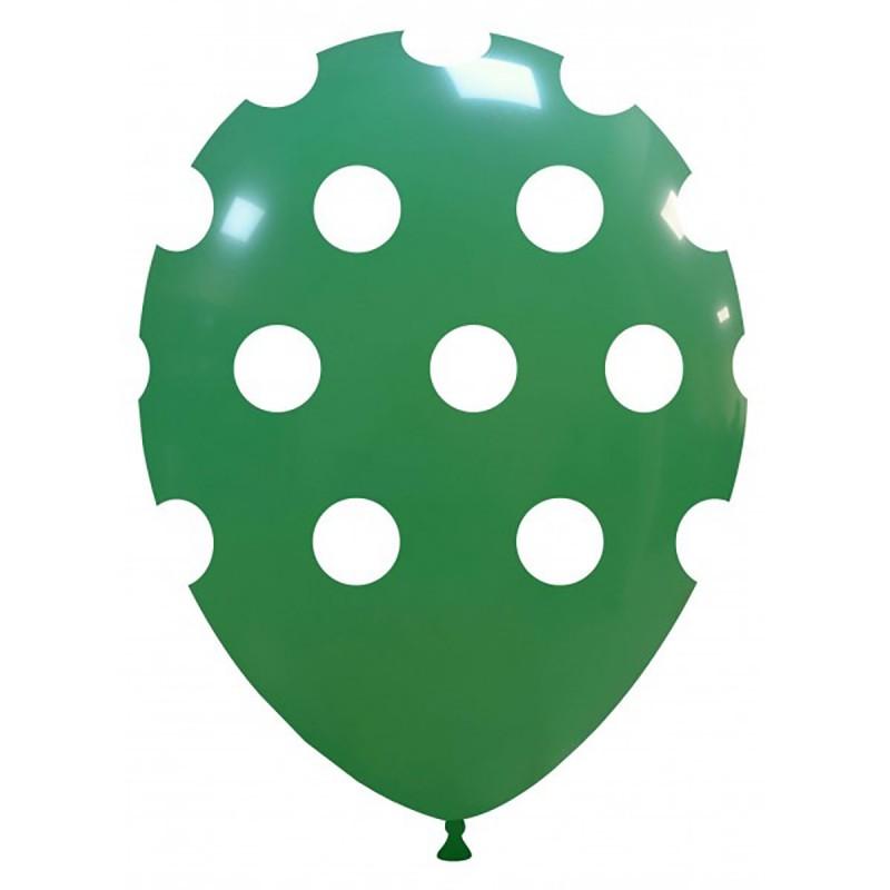 Set 10 Baloane Verde Inchis cu buline