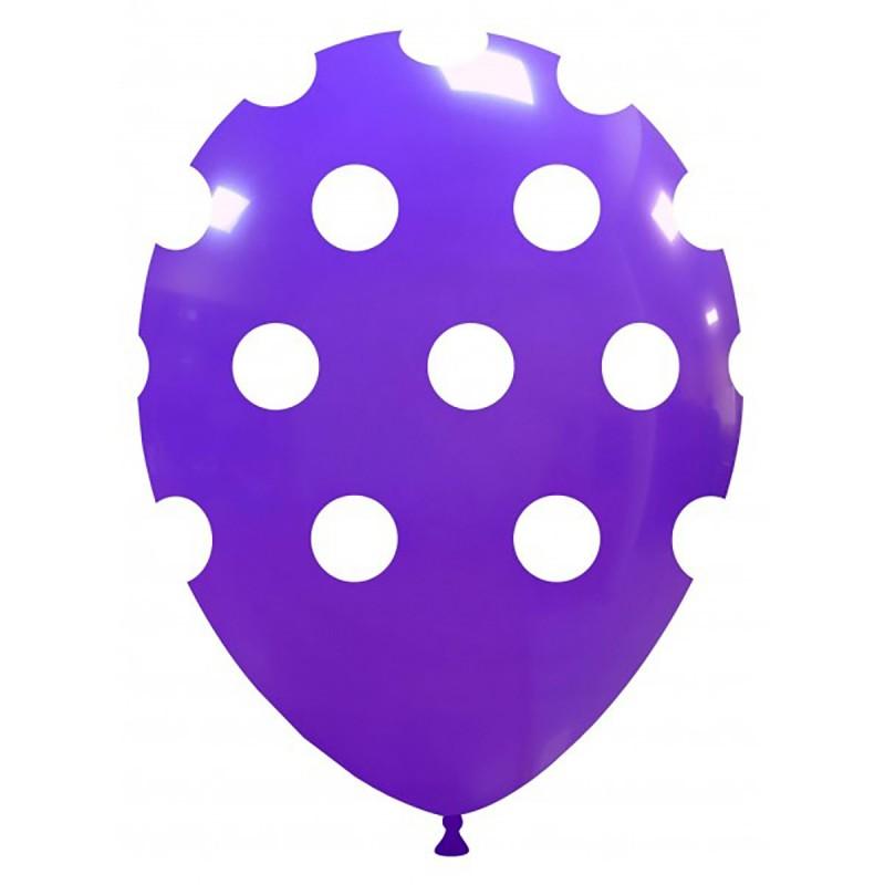 Set 10 Baloane Mov cu buline