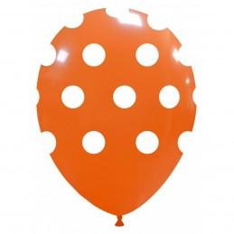 Set 10 Baloane Portocalii cu buline