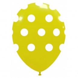 Set 10 Baloane Galbene cu buline