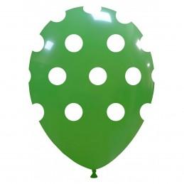 Set 10 Baloane Verzi cu buline
