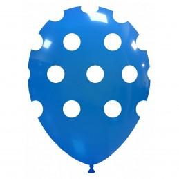 Set 10 Baloane Albastru Deschis cu buline