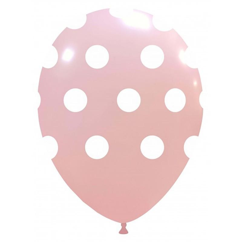 Set 10 Baloane Roz Deschis cu buline