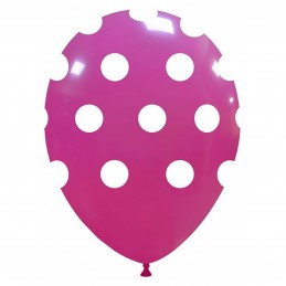 Set 10 Baloane magenta cu buline