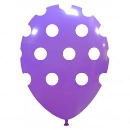 Baloane lavanda cu buline