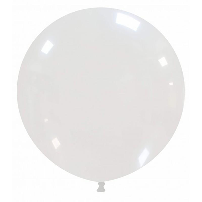 Set 50 Baloane Jumbo Transparente 48 cm