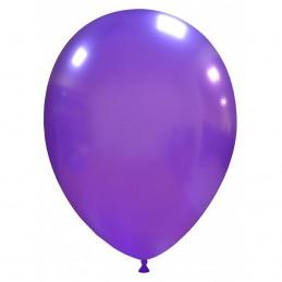 Set 100 Baloane Mov Metalizate 26 cm