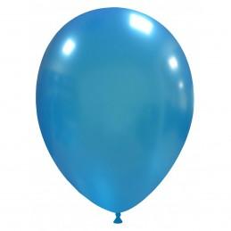 Set 100 Baloane Albastru Deschis Metalizate 26 cm