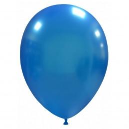 Set 100 Baloane Albastru Inchis Metalizate 26 cm