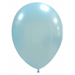 Baloane Metalizate Baby Blue 26 cm