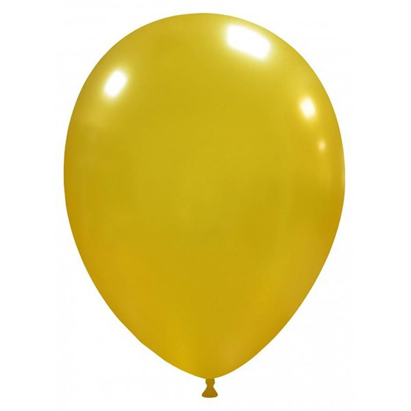 Set 100 Baloane Aurii Metalizate 26 cm