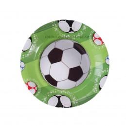 Set 8 farfurii fotbal 18 cm