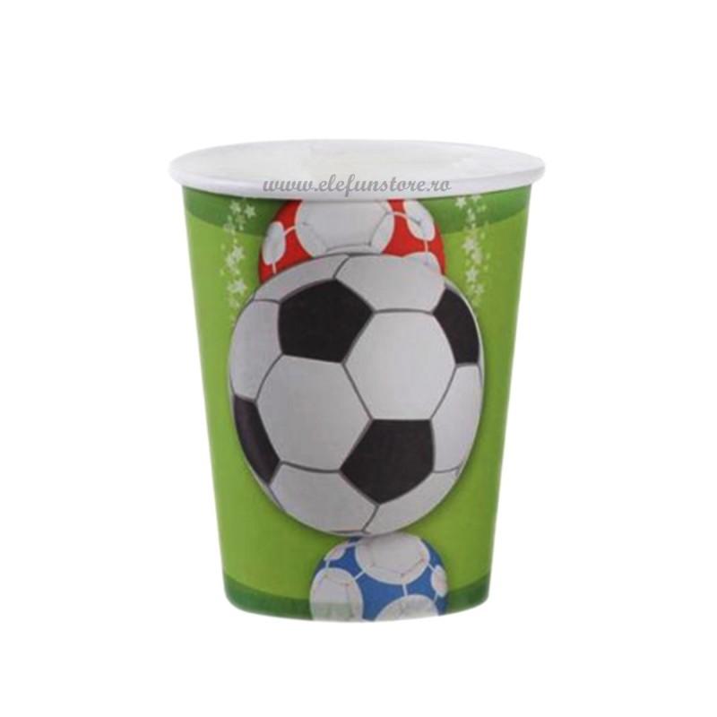 Set 8 pahare fotbal 200 ml
