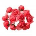 Set 144 trandafiri din spuma rosii 2cm