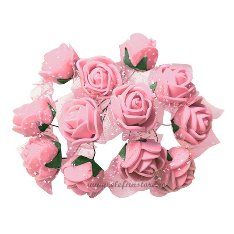 Set 144 trandafiri din spuma roz 2cm