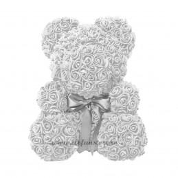 Set 144 trandafiri din spuma albi 2cm