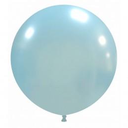 Balon Jumbo Baby Bleu Metalizat 80 cm