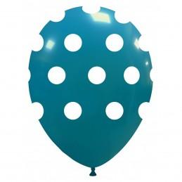 Set 10 Baloane Turcoaz cu buline