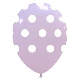 Baloane Pastel Lila cu buline