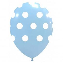 Baloane Pastel Baby Blue cu buline