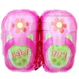 Balon Slapi Roz Baby Girl 75cm
