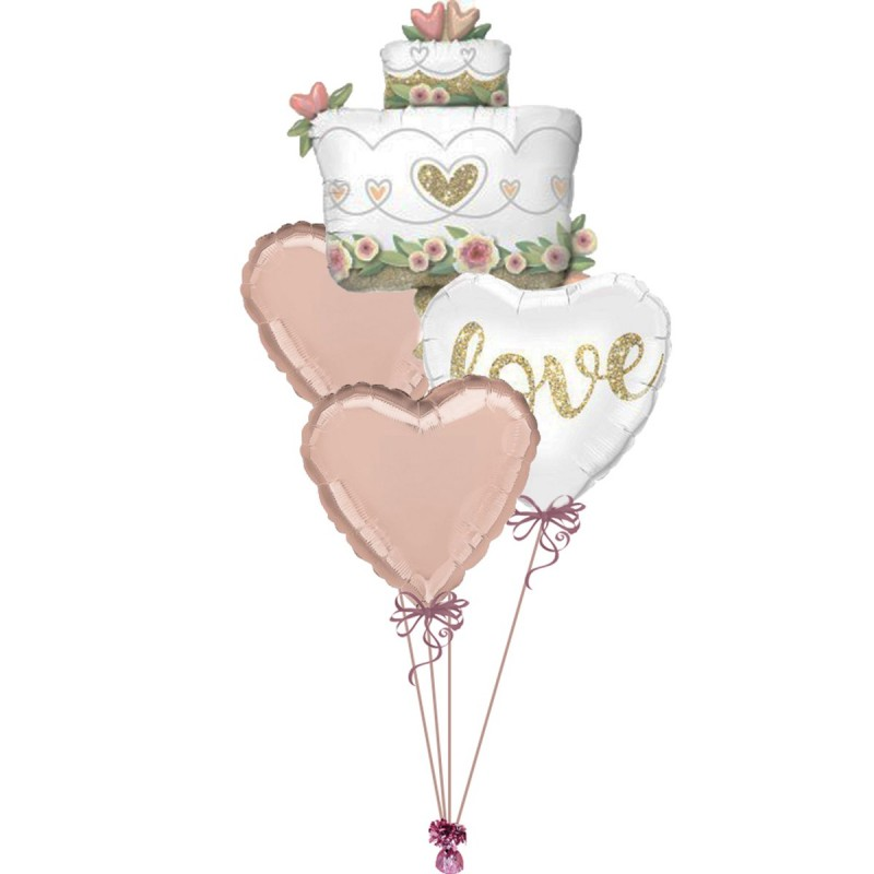 Balon Tort de Nunta Floral 80cm