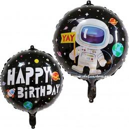 Balon Astronaut Happy Birthday Space