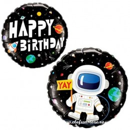 Balon Astronaut Happy Birthday Space