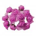 Set 144 trandafiri din spuma magenta 2cm