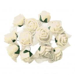 Set 144 trandafiri din spuma ivoire 2cm