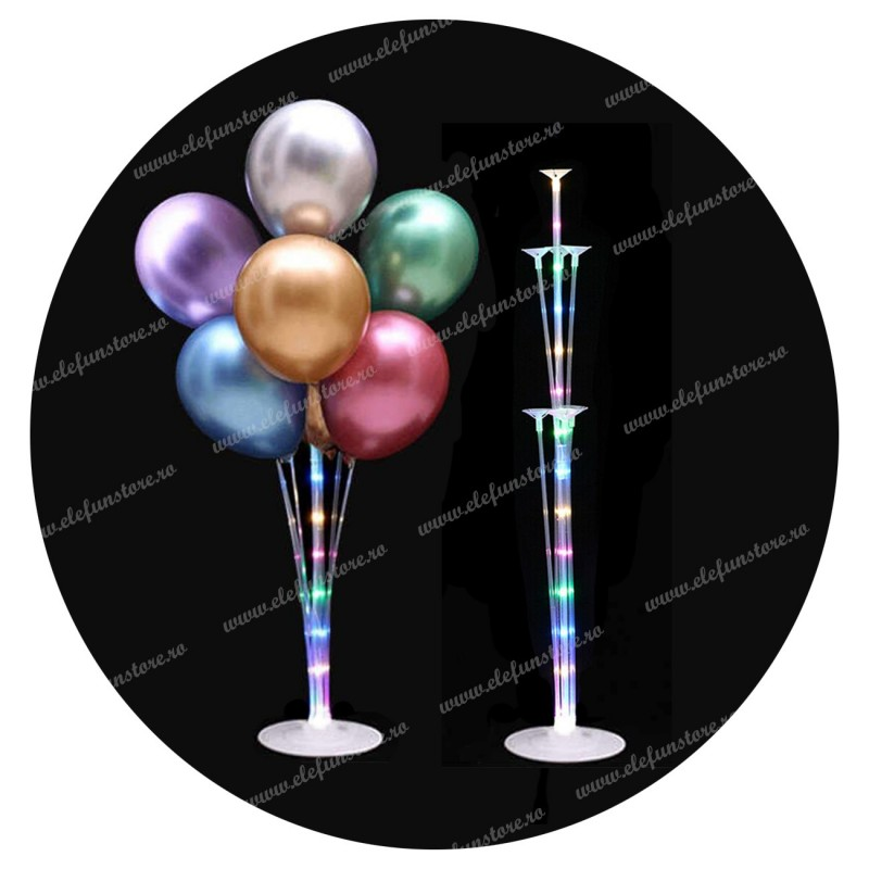 Suport Alb cu LED pt 7 baloane